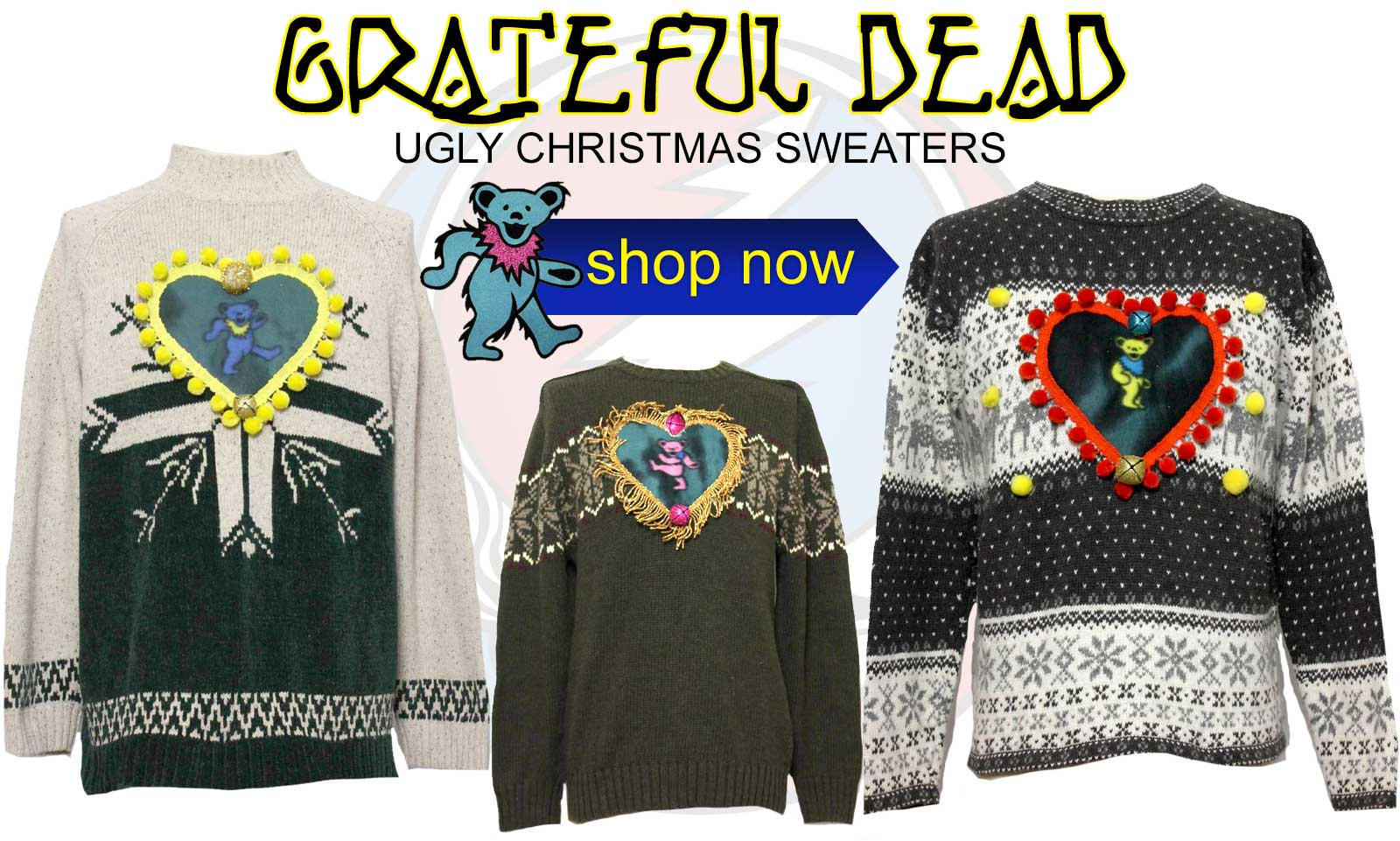Dead Head Ugly Christmas Sweaters at RustyZipper.com