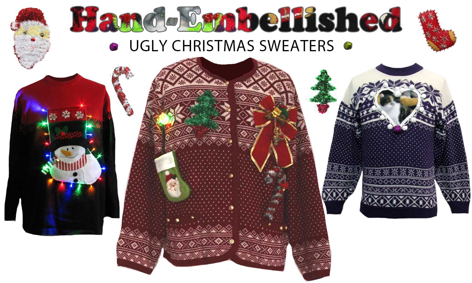 Buy Ugly Embellished Christmas Sweaters