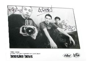 Signed Beastie Boys Photo