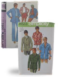 Mens 1970's Sewing Patterns at RustyZipper Com Vintage Clothing