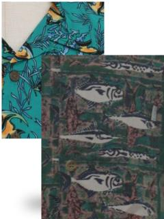Fish Print Hawaiian Shirts