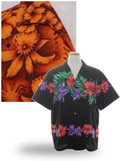 Orchid Print Hawaiian Shirts