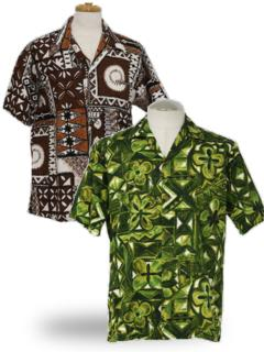 Tapa Print Hawaiian Shirts