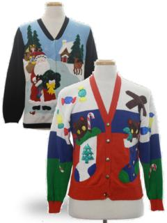 Mens Vintage Ugly Christmas Sweaters At Rustyzippercom Vintage Clothing