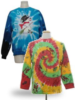 Tie Dyed Ugly Christmas Sweatshirts