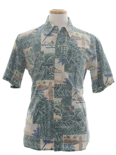 Boat Print Hawaiian Shirts