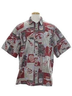 Palm Tree Print Hawaiian Shirts