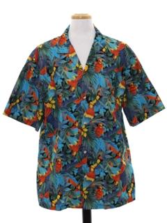 Parrot Print Hawaiian Shirts