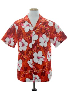 Tapa Print Hawaiian Shirts