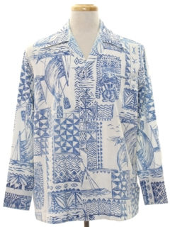 Tiki Print Hawaiian Shirts