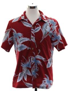 Wood Button Hawaiian Shirts
