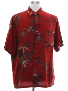 Wood Button Hawaiian Shirts