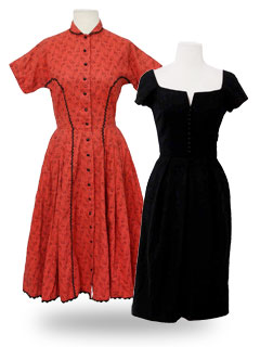 Vintage Dresses at RustyZipper.Com - over 3,500 unique vintage dresses