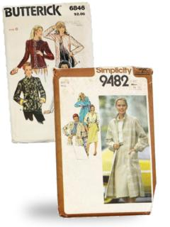 Womens 1980's Sewing Patterns at RustyZipper Com Vintage