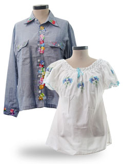 Womens 1970 S Shirts At Rustyzipper Com Vintage Clothing