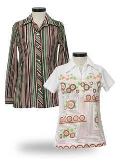 Womens 1970 S Shirts At Rustyzipper Com Vintage Clothing