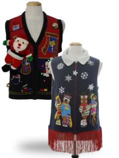 Womens Vintage Ugly Christmas Sweaters Authentic Vintage