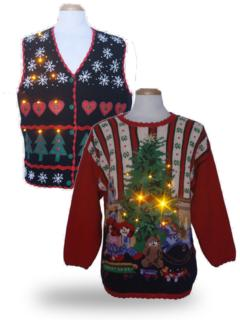 Lightup Ugly Christmas Sweaters & More