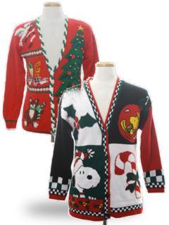 Christmas Cardigan Sweaters.Womens Vintage Ugly Christmas Sweaters Authentic Vintage