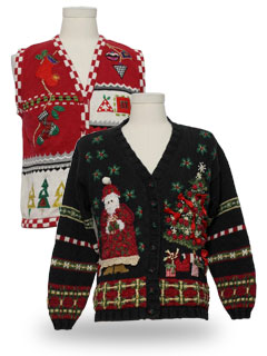Womens Vintage Ugly Christmas Sweaters. Authentic vintage Ugly ...