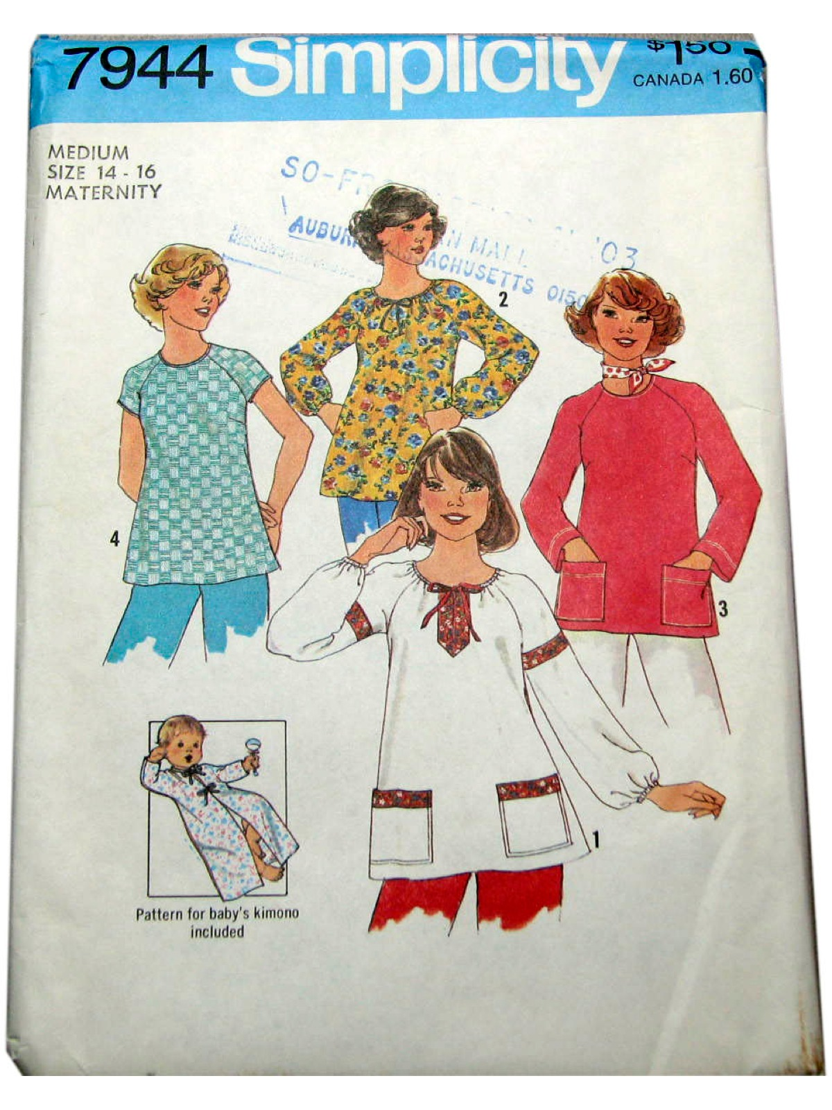 6aec58fee51 70s Retro Sewing Pattern  70s -Simplicity Pattern No. 7944- Misses ...