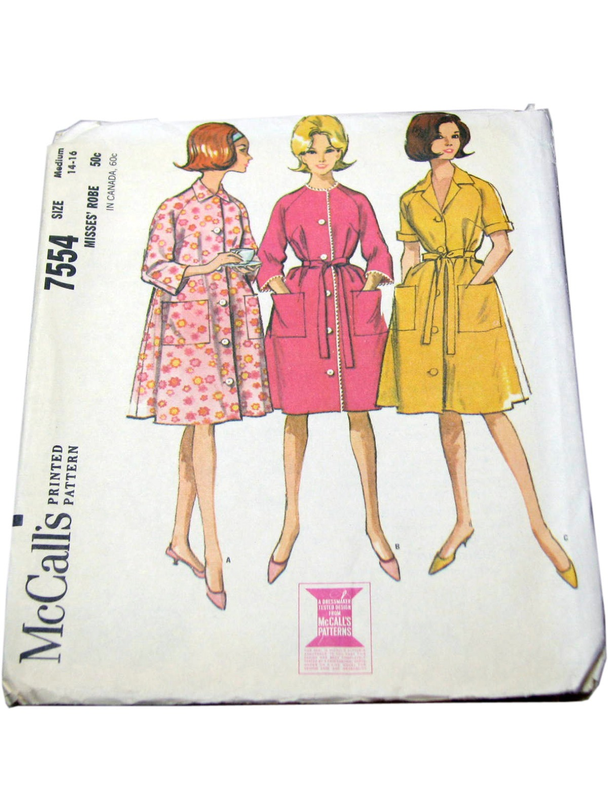ee4842424882 Sixties McCalls Pattern No. 7554 Sewing Pattern: 60s -McCalls ...