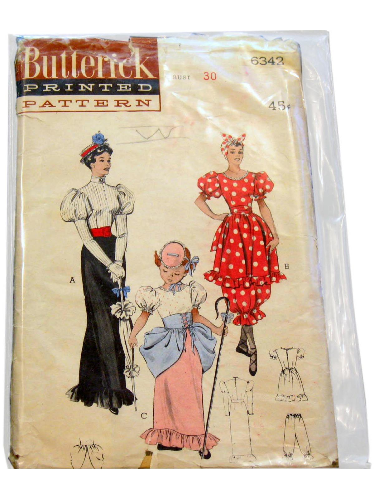 1950s Vintage Sewing Pattern 50s Butterick Pattern No