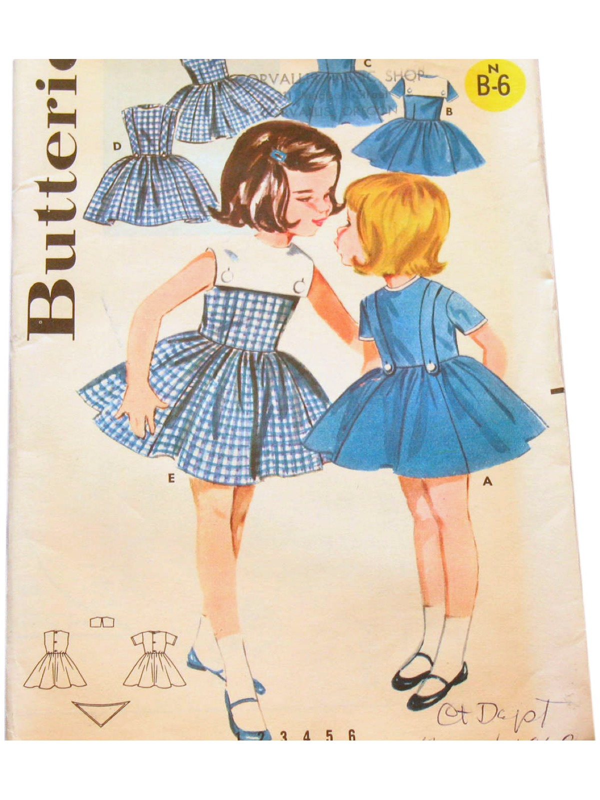 1950s Vintage Sewing Pattern 50s Butterick Pattern No