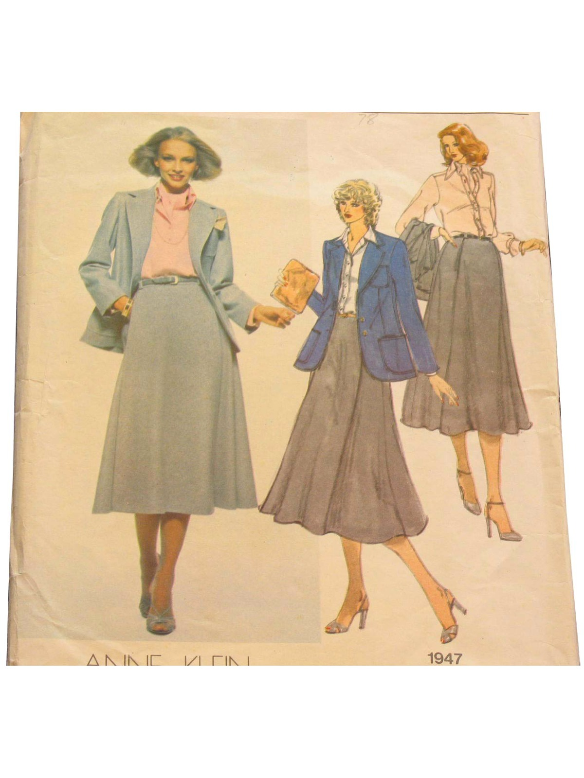 70s Retro Sewing Pattern Late 70s Vogue American