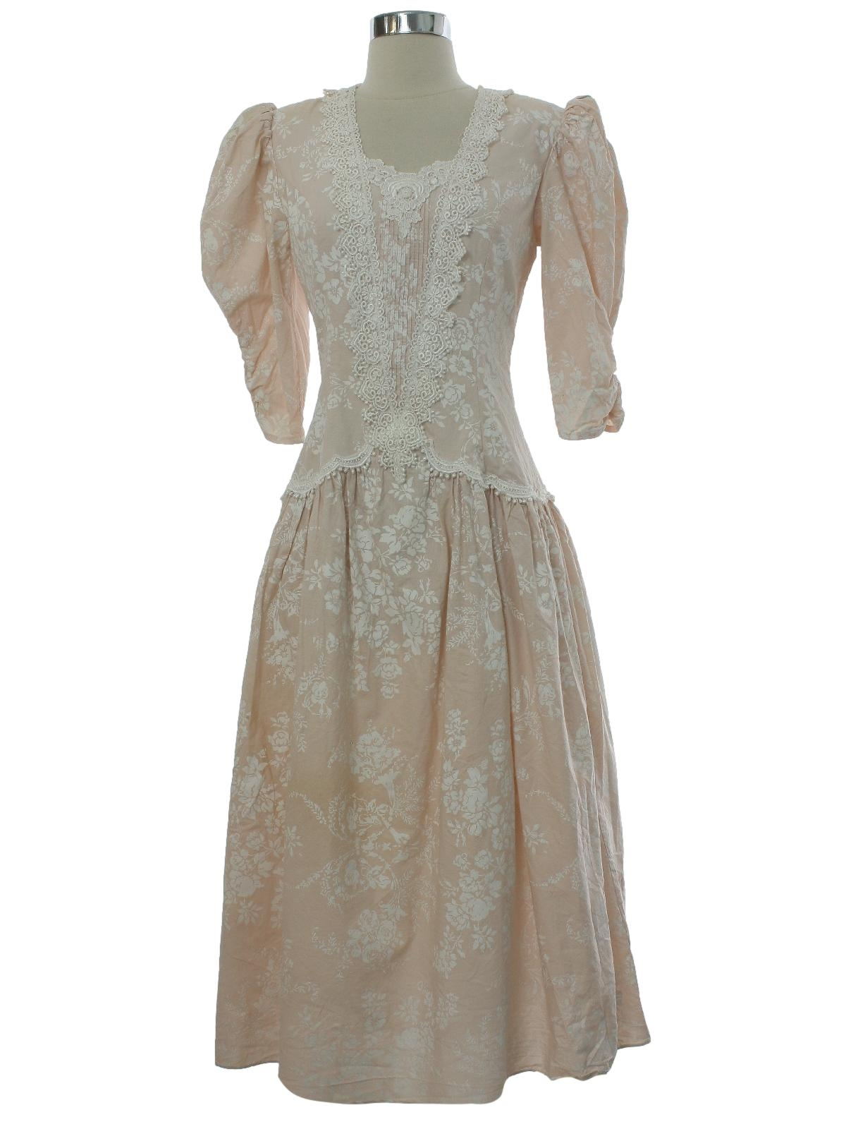 Jessica McClintock Bridal Seventies Vintage Dress: Late 70s or early ...