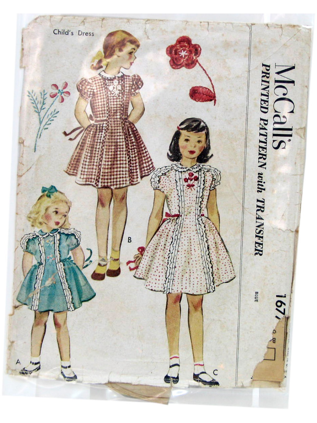 Vintage 1950's Sewing Pattern: 50s -McCalls Pattern No ...