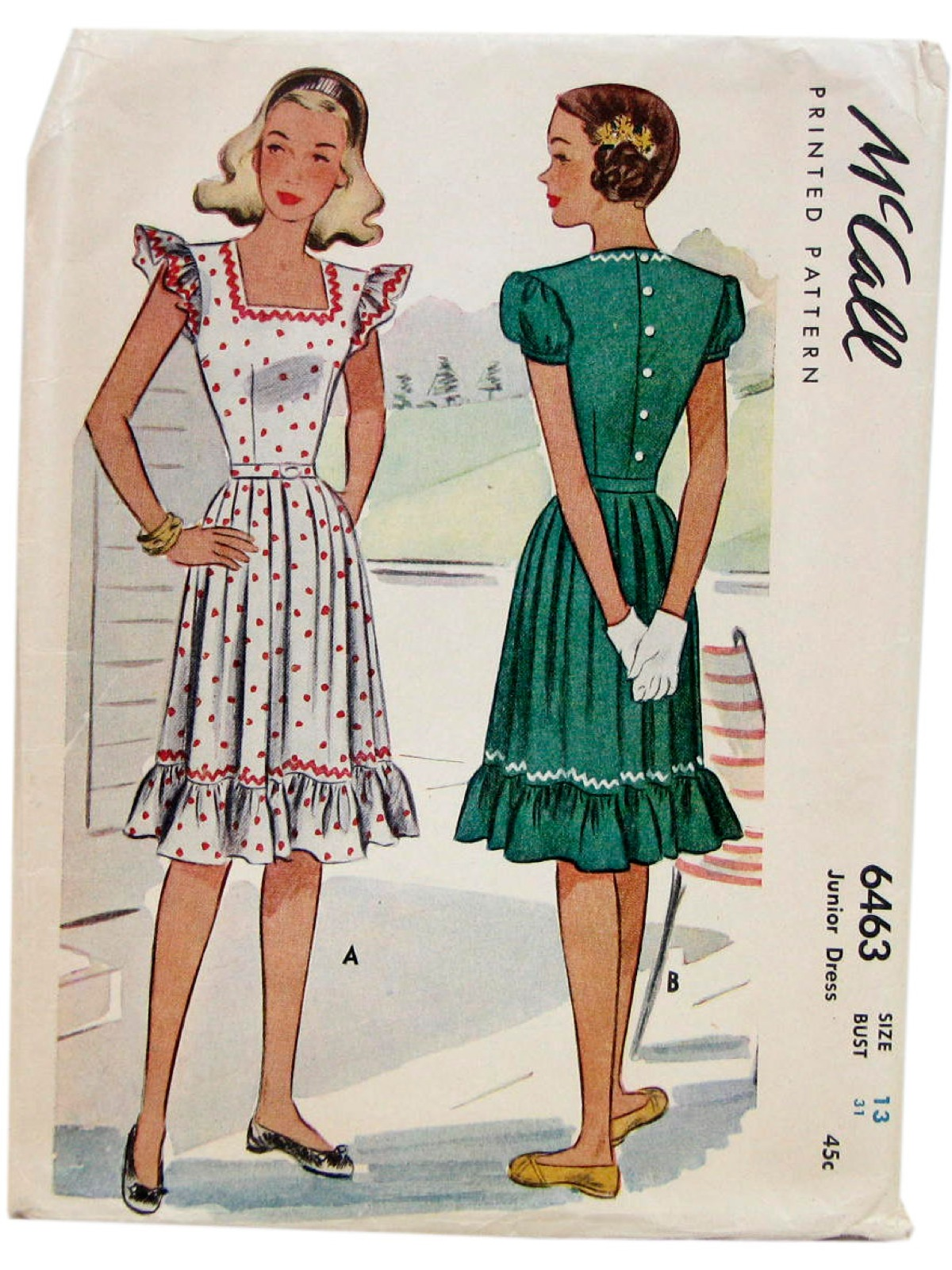 1950 S Sewing Pattern Mccalls Pattern No 6463 50s