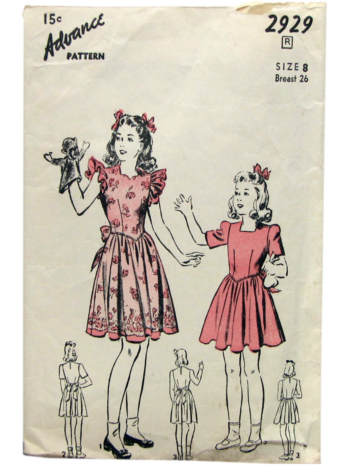 40s Vintage Advance Pattern No. 4906 Sewing Pattern: 40s