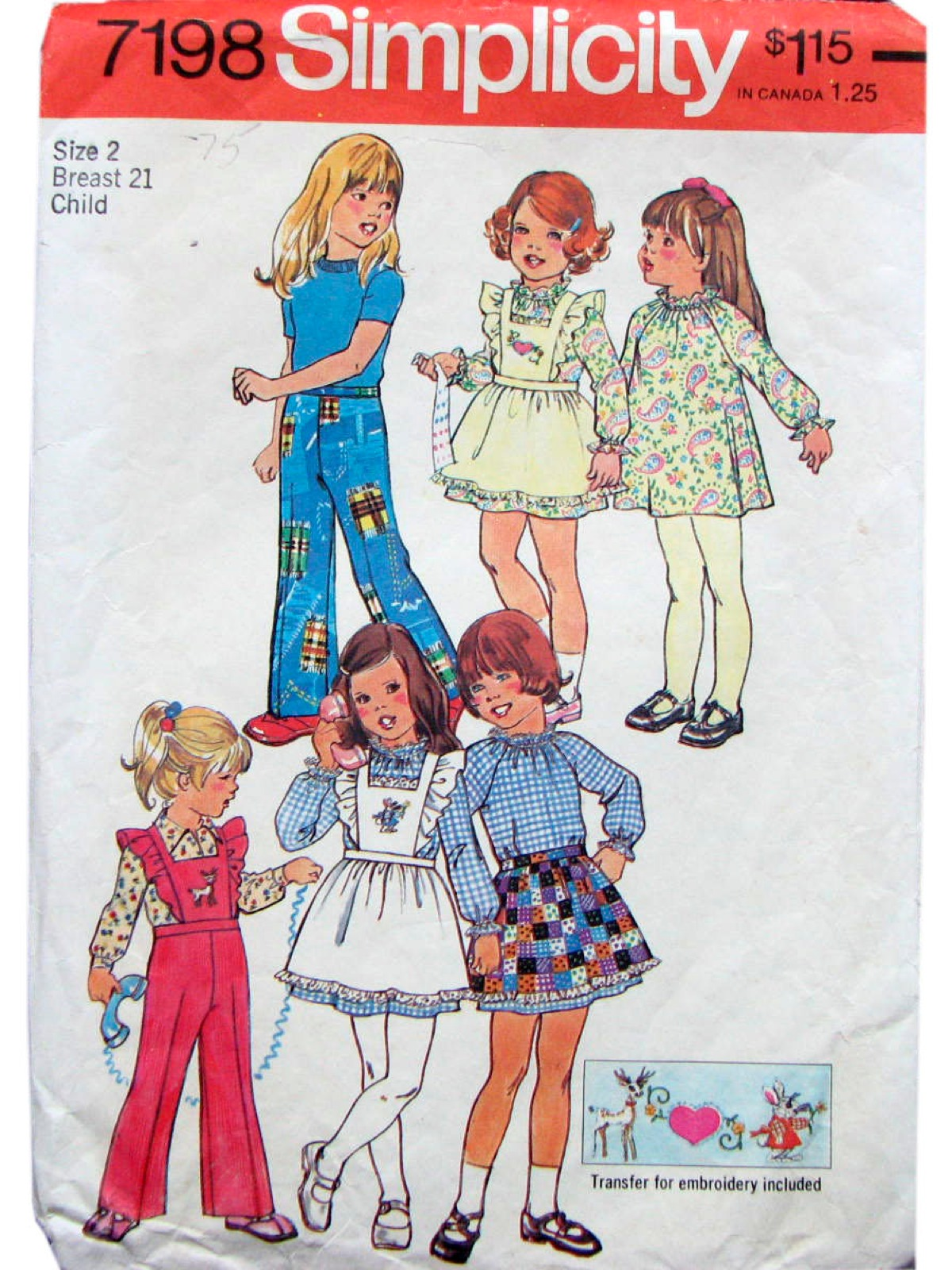 1970 S Vintage Simplicity 7198 Sewing Pattern 70s