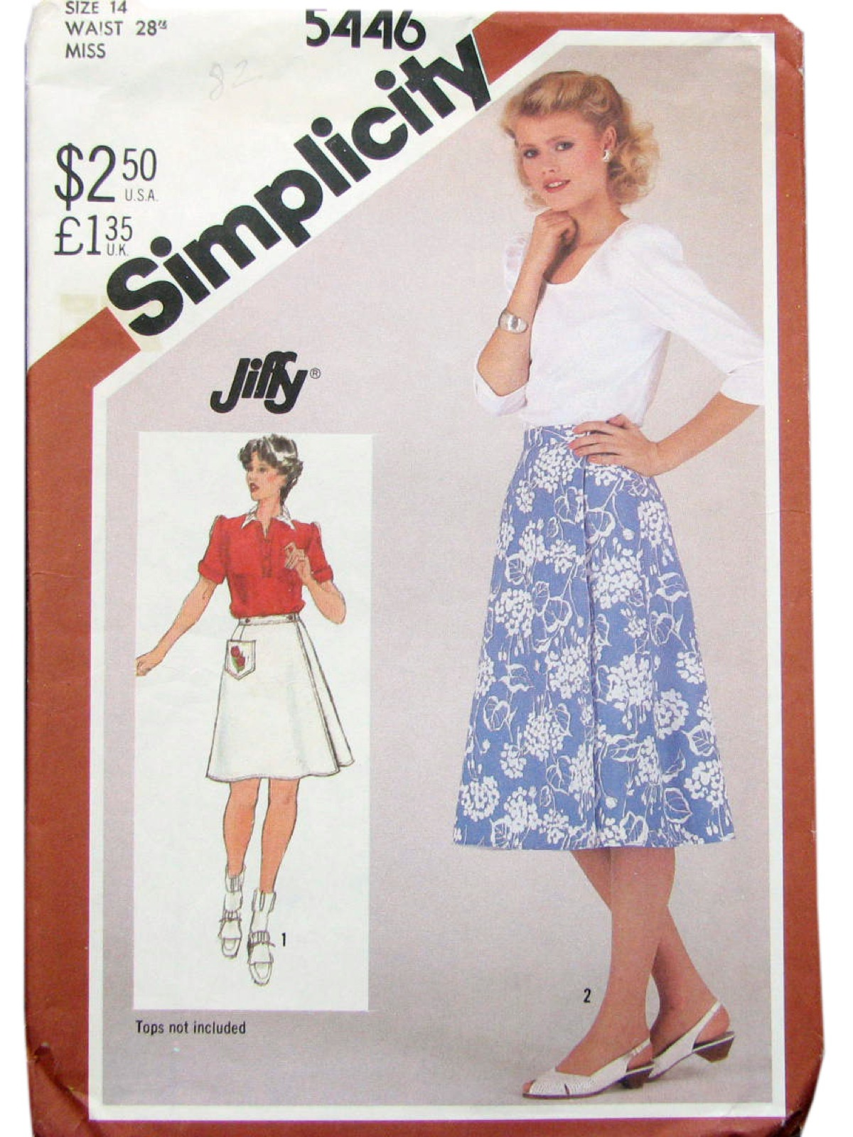 1980 S Sewing Pattern Simplicity 5446 80s Simplicity