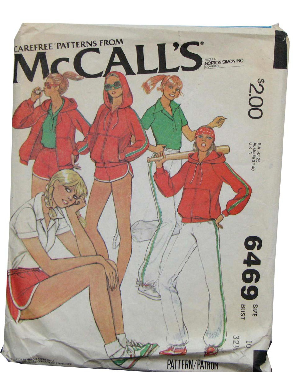 Mccalls Pattern No 6469 1970s Vintage Sewing Pattern 70s