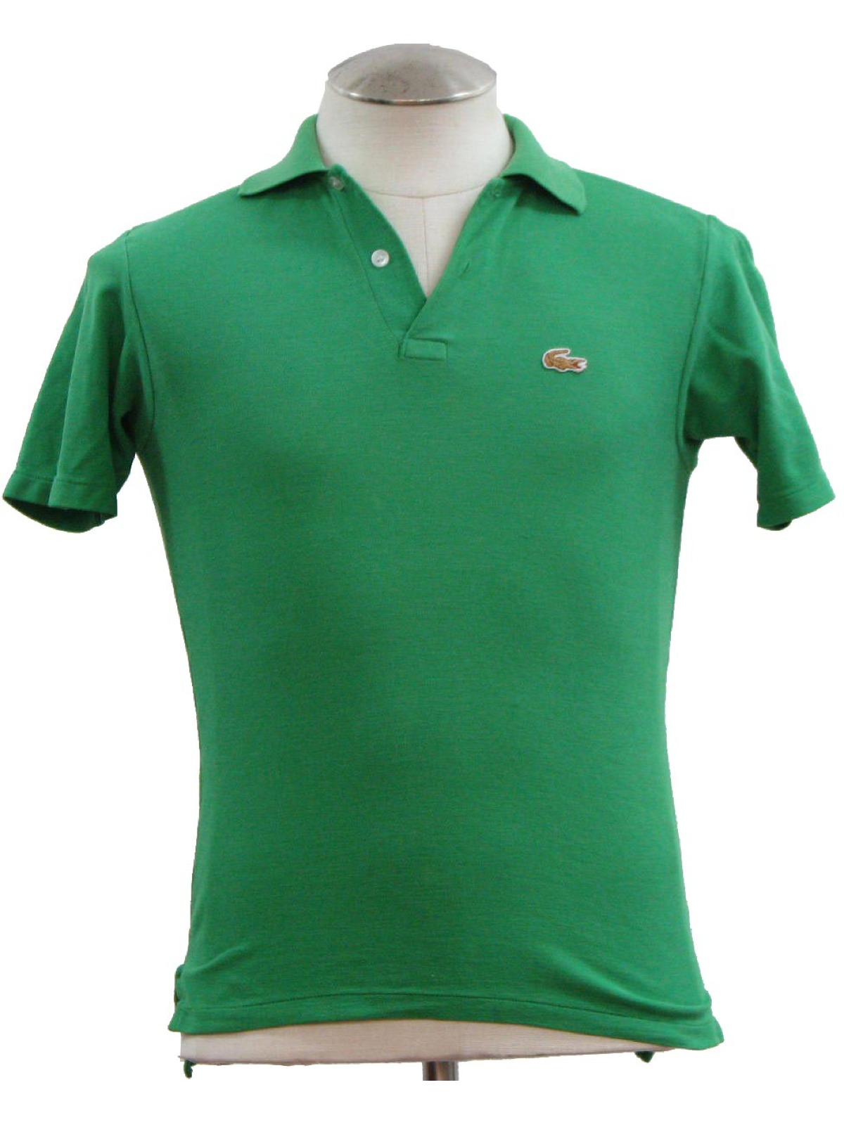 88f8f45d31c88b Eighties Izod Shirt: 80s -Izod- Mens or boys green woven cotton and ...