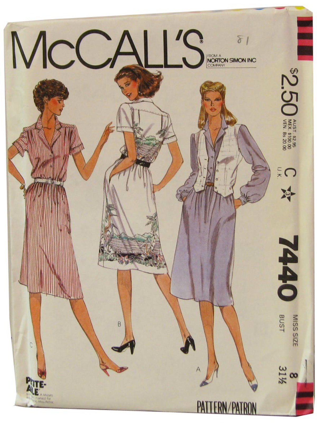 Vintage 1980 S Sewing Pattern 80s Mccalls Pattern No