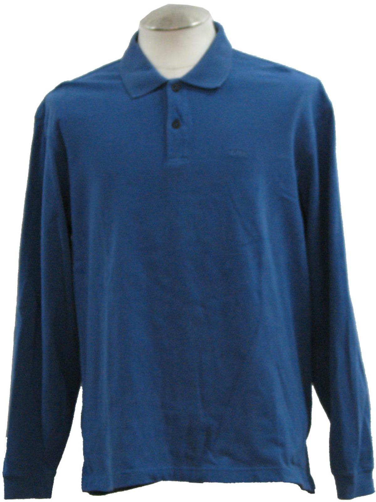 Izod Eighties Vintage Shirt 80s Izod Mens Dark Blue With Matching