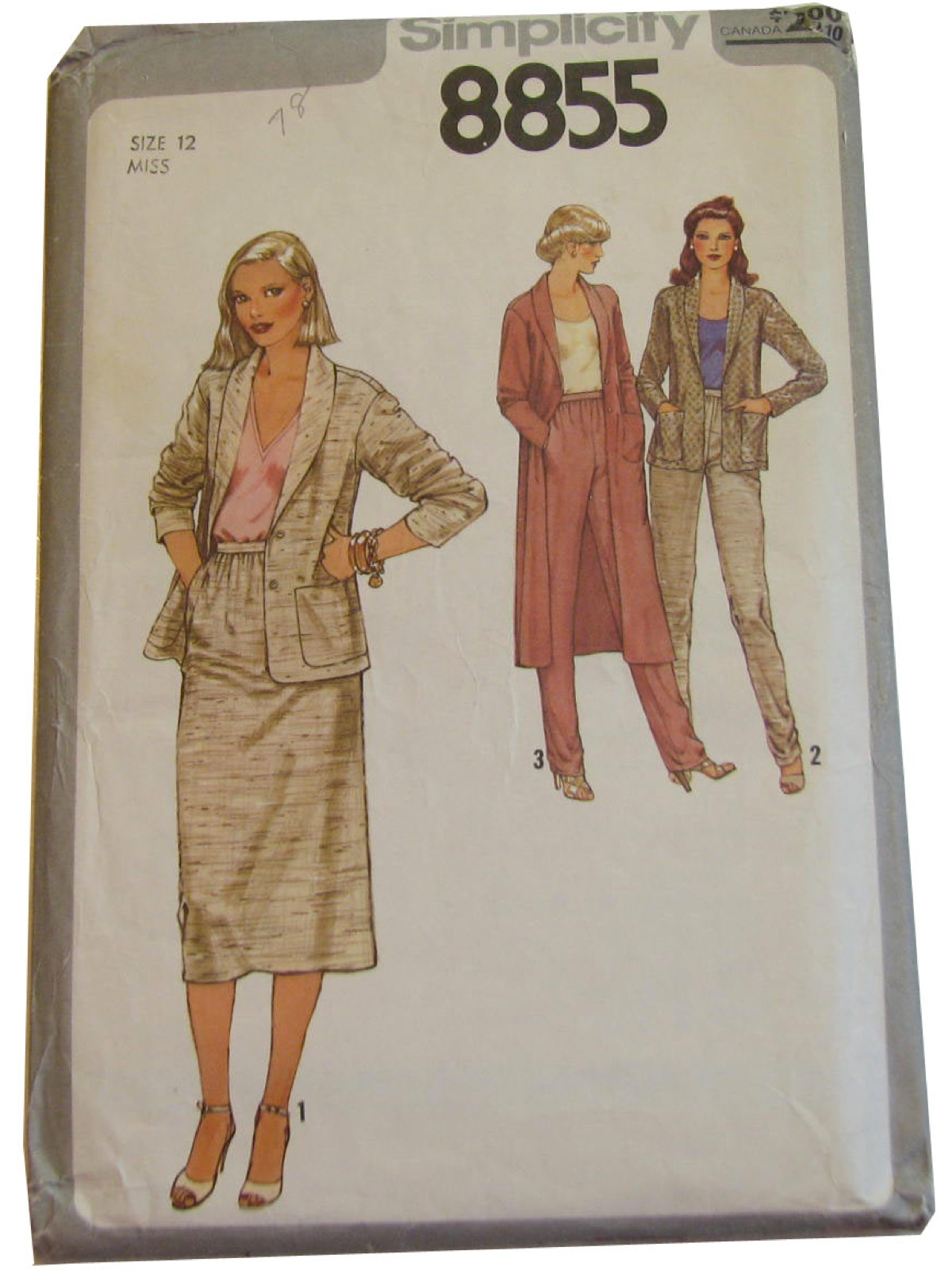 70s Retro Sewing Pattern 70s Simplicity 8855 Womens