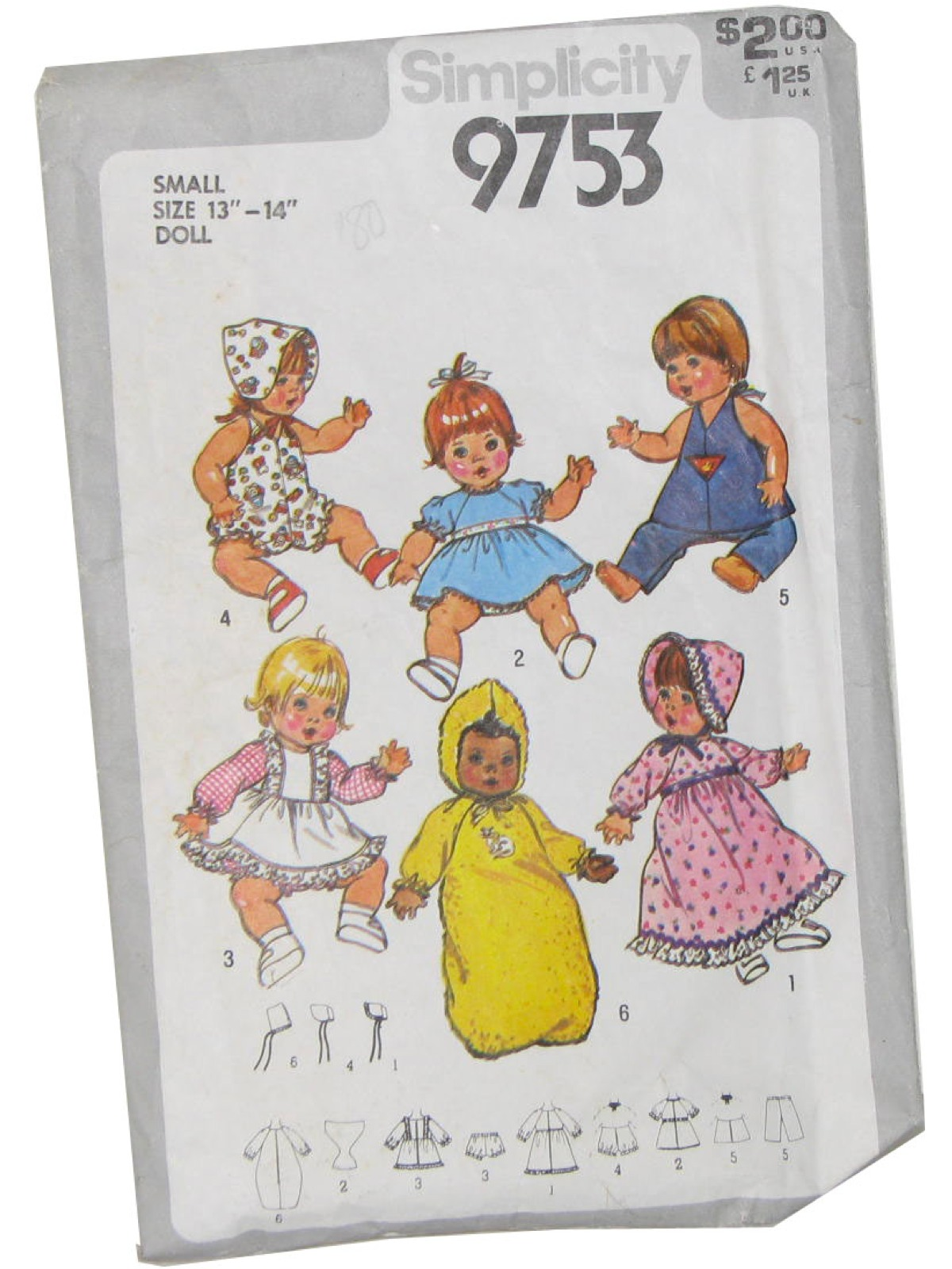 Vintage Doll Clothes Patterns at RustyZipper.Com Vintage Clothing