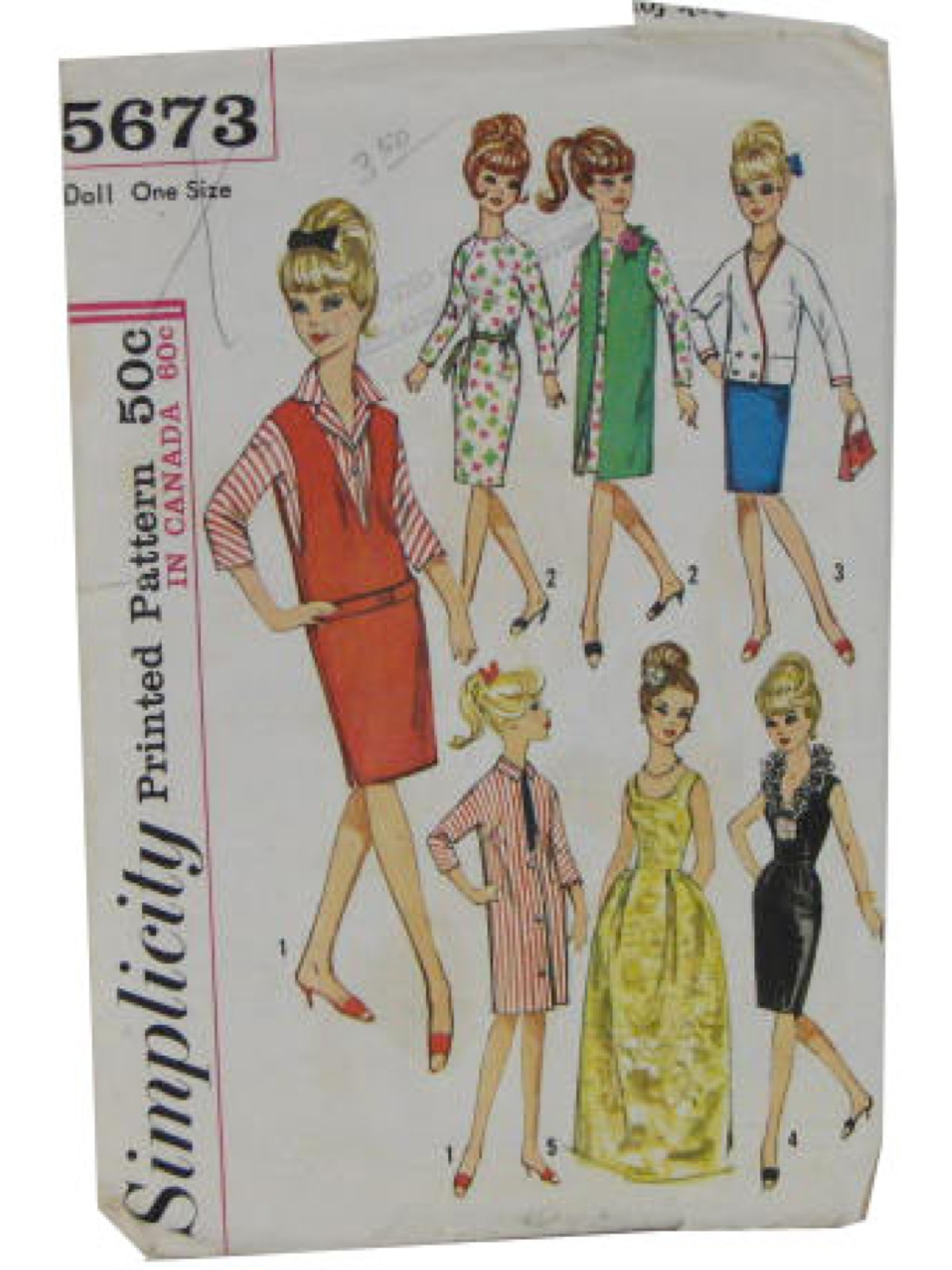 60 S Vintage Sewing Pattern 60s Simplicity 5673 Sewing