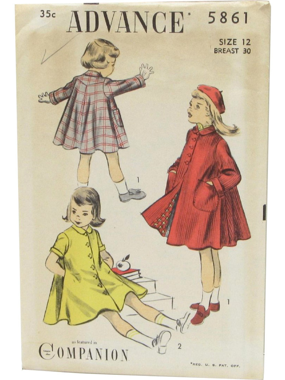 Advance Pattern No. 2929 Forties Vintage Sewing Pattern