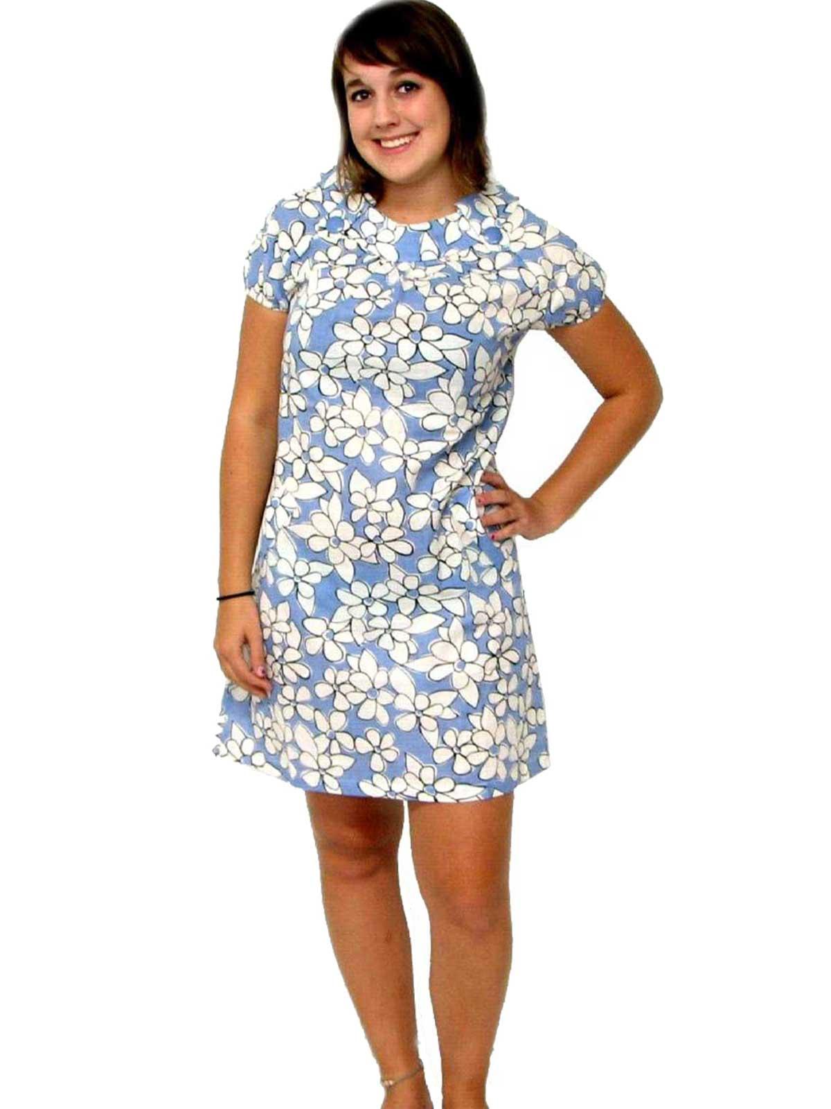 50 S Vintage Mini Dress 50s Inspired Poppy Garden