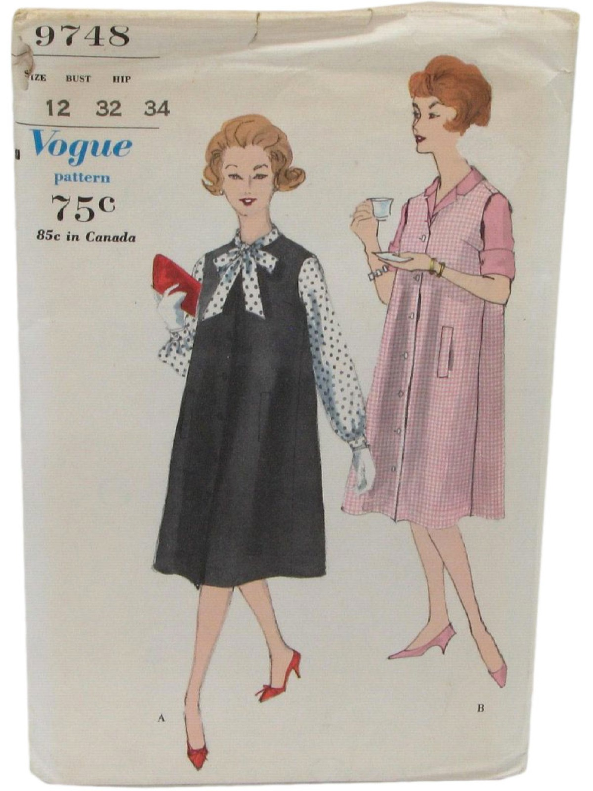 Retro 1970s Sewing Pattern 70s Vogue Pattern No 9748 226