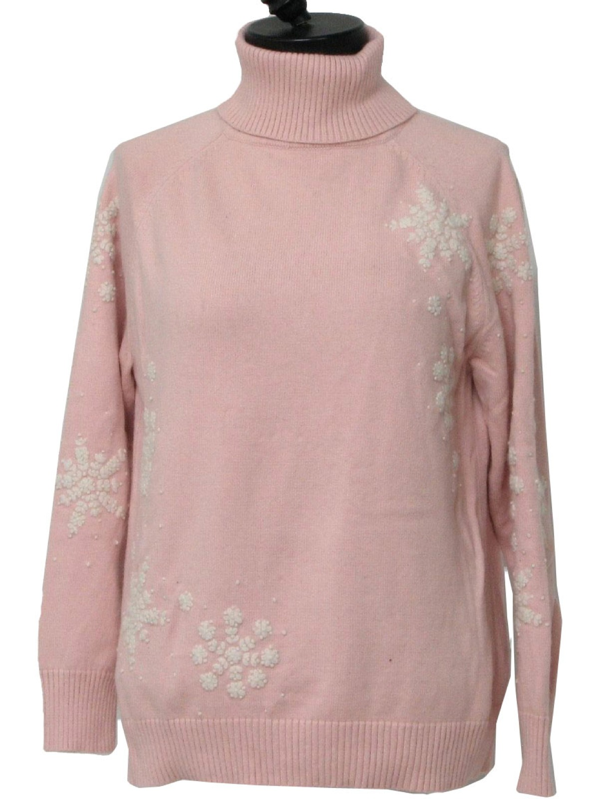 Womens Ugly Christmas Sweater: -Eddie Bauer- Womens pink and white ...
