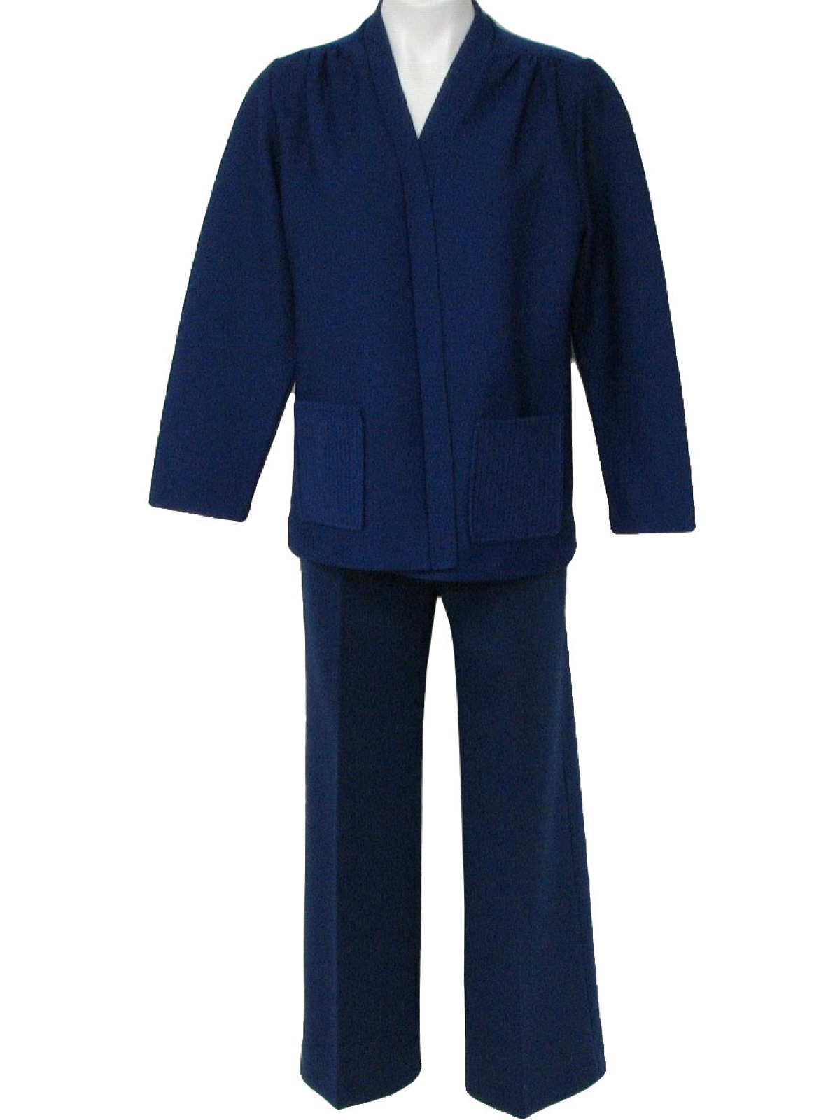 Fantastic  Similar To 1960s Women39s Navy Blue Wool Tailored Pant Suit On Etsy