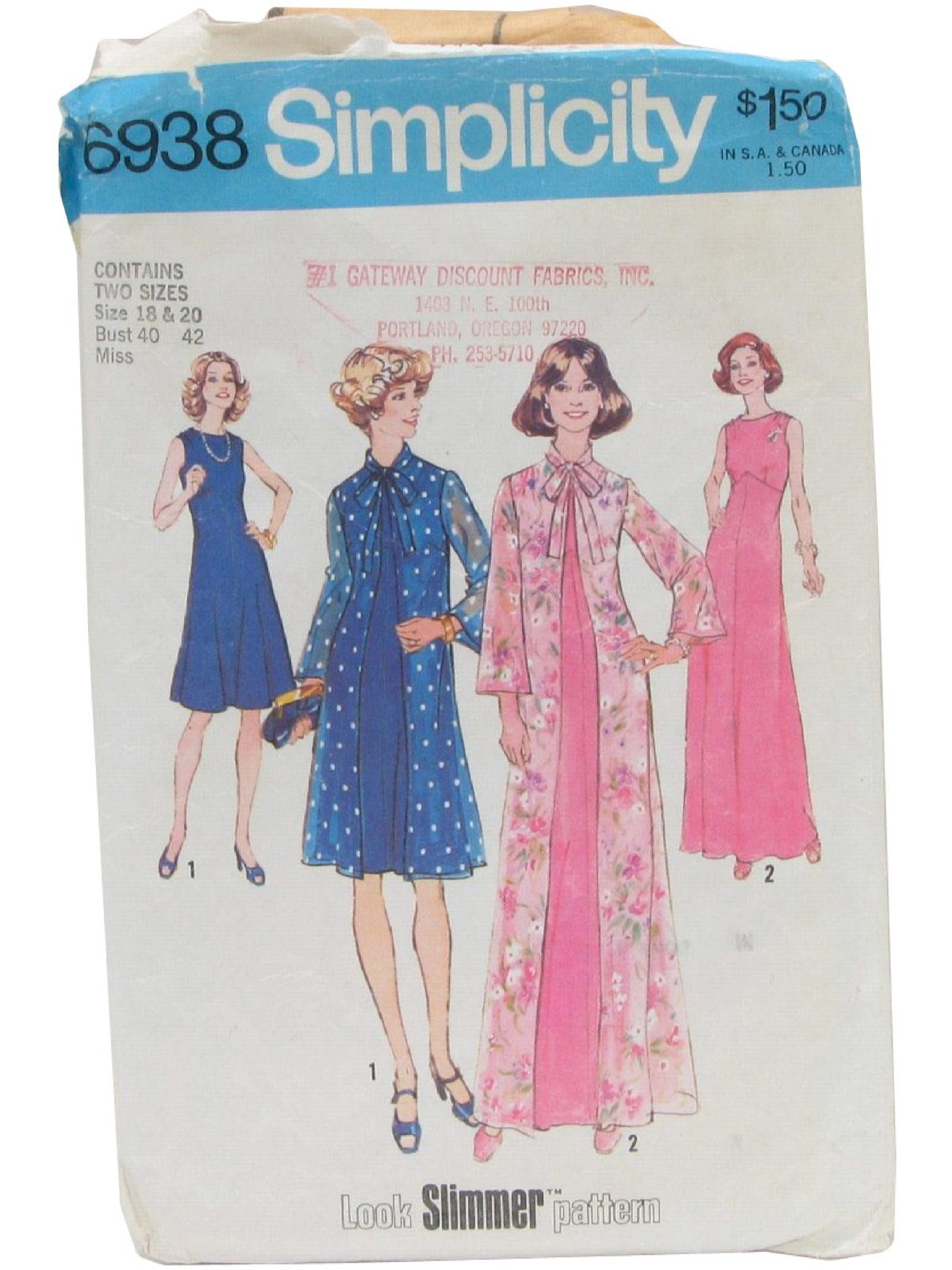 1970s vintage sewing pattern  70s