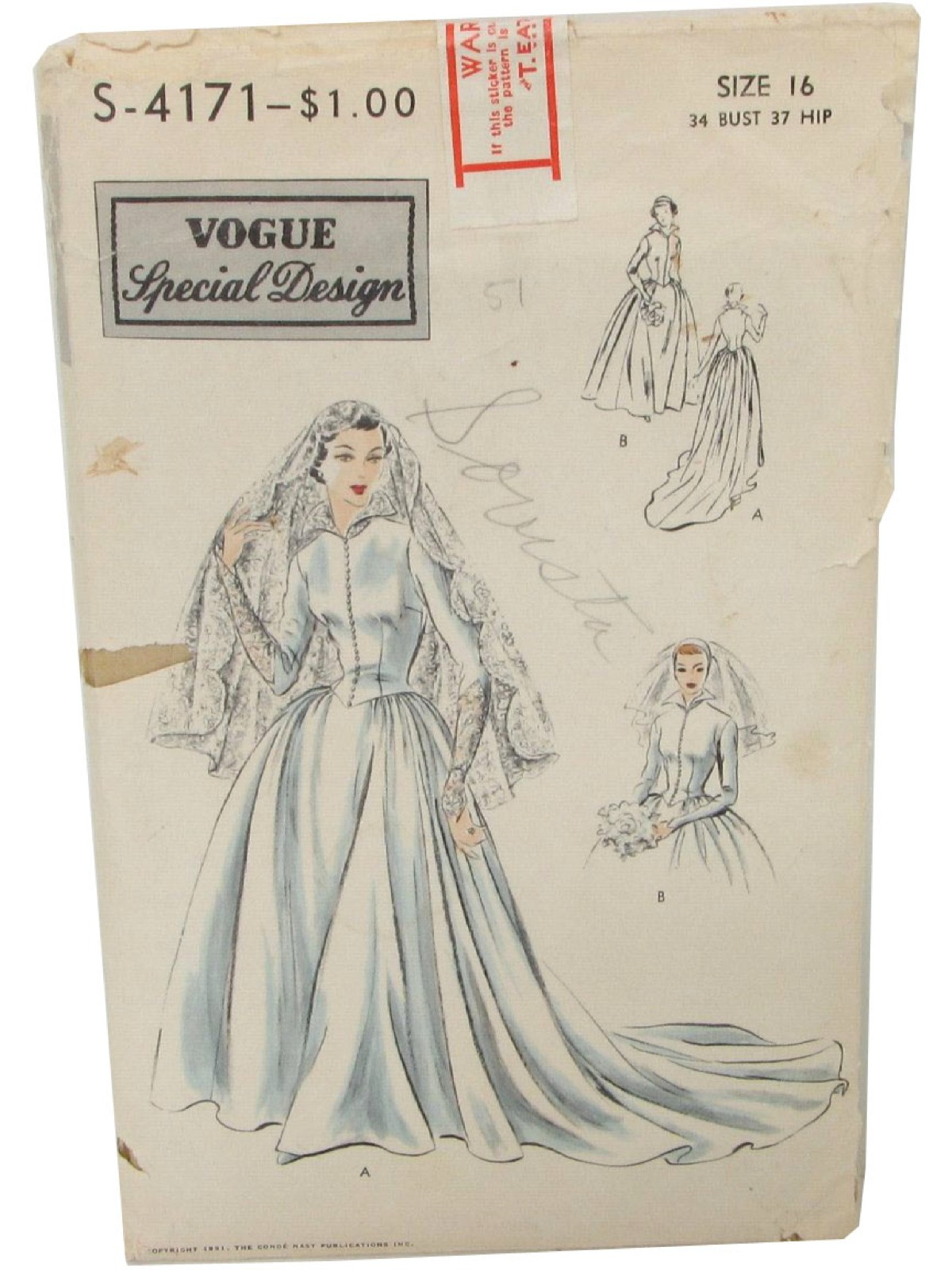 50s sewing pattern 50s vogue s4171 vogue special design brides 50s sewing pattern 50s vogue s4171 vogue special design brides or bridesmaid dress gored skirt shaped back dropped waist ombrellifo Images