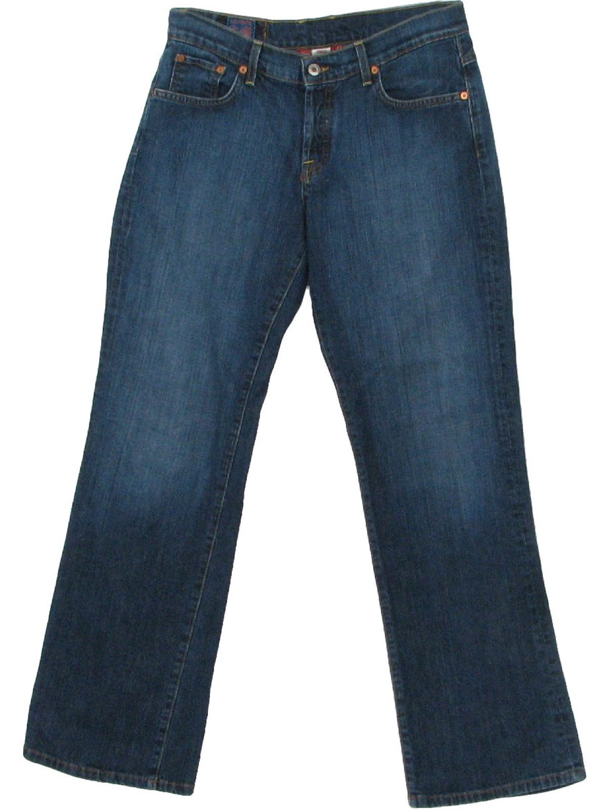 Flared Pants / Flares 90s (70s inspired) -Lucky Brand designer- Womens dark blue cotton and ...